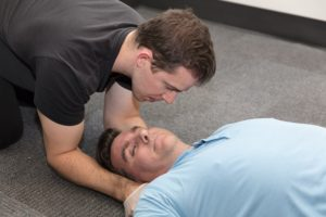 Spinal injury training during first aid course (2)